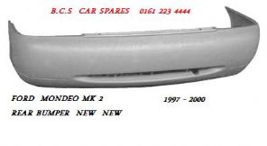 FORD MONDEO  MK 2  REAR BUMPER   HATCH   NEW  NEW   1998 - 1999 - 2000 - 2001